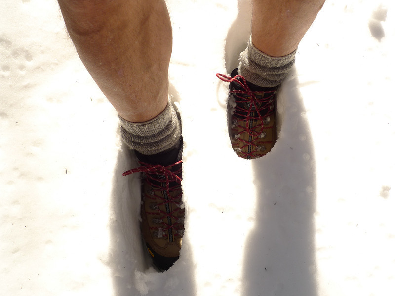 You should have gaiters for this kind of depth but I never carry them ergo wet socks.