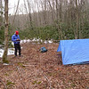 Hoppin John checks out the leader's tarp.