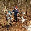Hoppin John and I make it down to Cold Gap and Abbi and Michael are not far behind as they have to leave at Beech Gap.