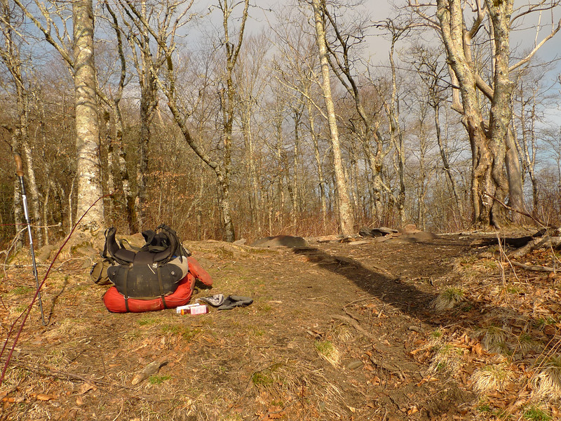 Passing thru Naked Ground I just throw off the pack and take a break on my way to Hangover Mt.