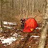 Little Cove Camp finds John setting up his Kaitum and so I record the event.