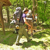 The Georgia backpackers leave the gap and take the Big Fat trail down to Slickrock Creek and Wildcat Falls.  I follow close behind.