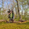 On Day 3 I leave the mountain on the South Lead trail and use my hand pruners the whole way to Big Fat Gap and beyond.