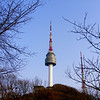 Seoul views of Seoul Tower (Namsan Tower) in Korea.