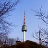 Seoul views of Seoul Tower (Namsan Tower) in Korea.