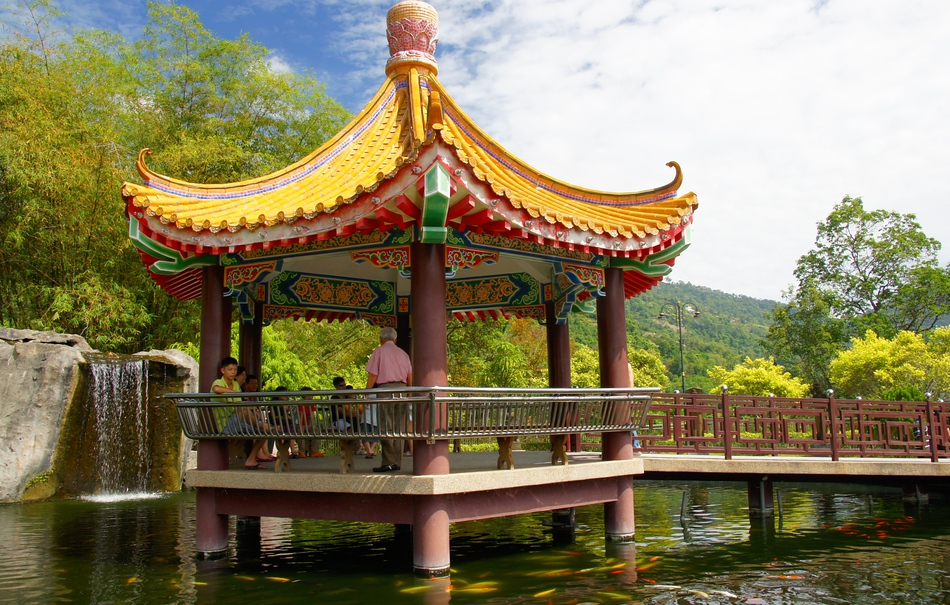 A Pavilion overlooking a scenic area.