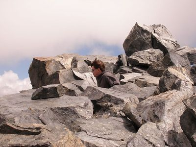 The summit rocks of one of about four distinct (and roughly equally high) summits.