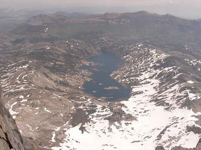 Looking down at Garnet Lake