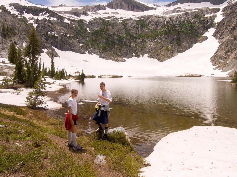 Mackenzie and Evan at Anona Lake