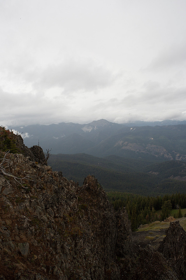 One of the views from Little Bald mountain.  I'd really like to get back up here on a clear day.  I imagine the views would be incredible.