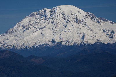 Mount Rainier to the north from Burley Mountain Lookout
