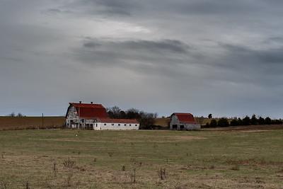 Barns just outside Parrotsville