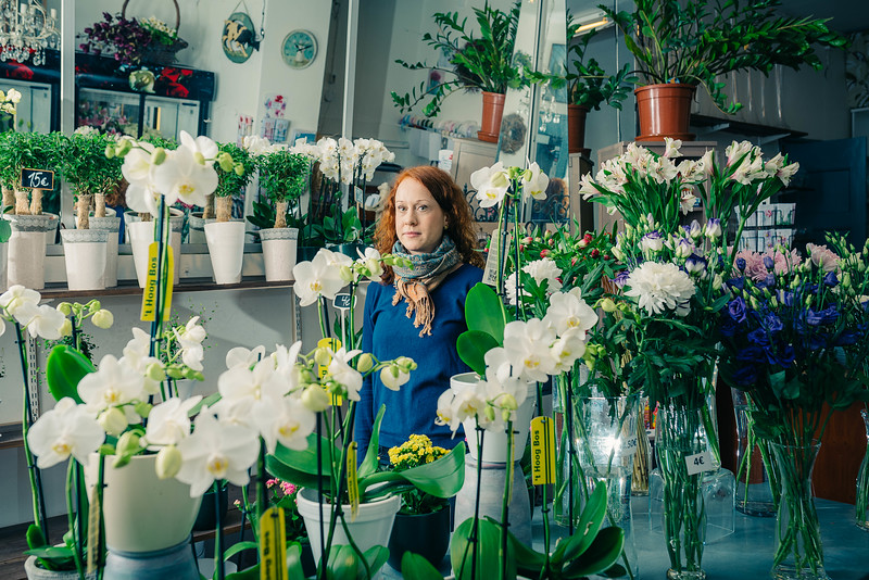 People at Work project, Rosie Marie flower shop @ Helsinki 2015