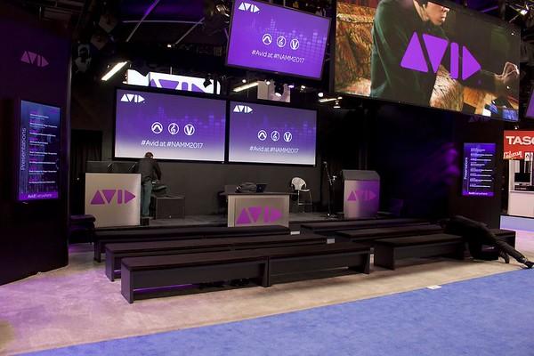 AVID booth at NAMM