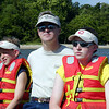 Ry, Lars & Jin on the York River with the Northside Ecology Club - going to 'plant' the baby oysters!