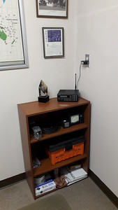 Smaller cabinet for radio room, more room now and cleaber looking