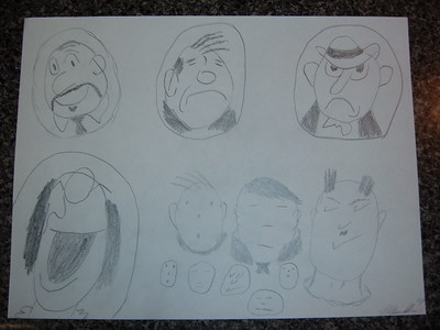 Cartoon Characters drawing book lesson
