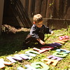 Corey playing with his letters