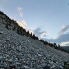 Rocky Scree Field at Sunset