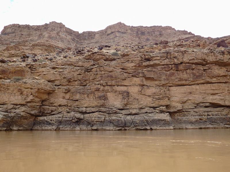 Rock Cliffs Along the River