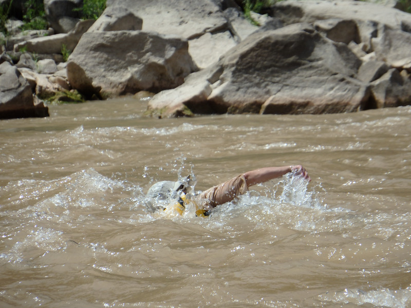Mary P  Swimming Across the River