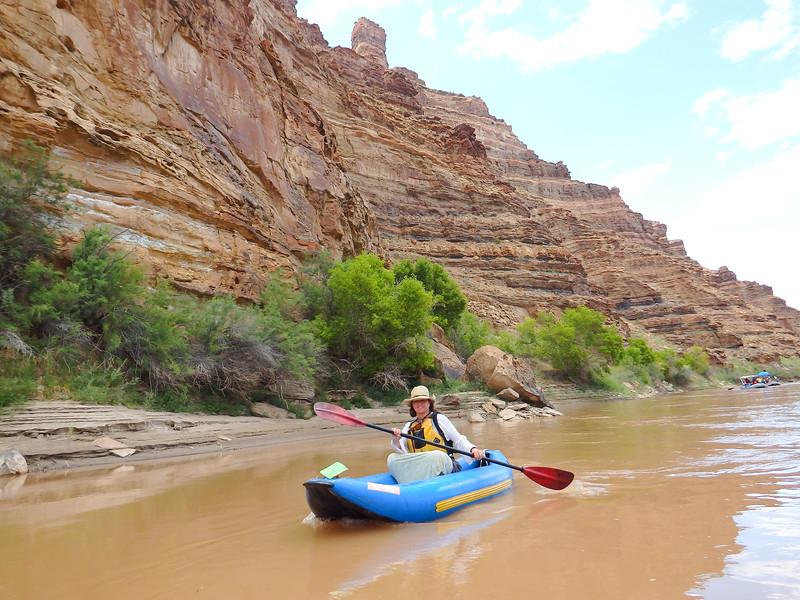 Reddish Orange Cliffs Along the River