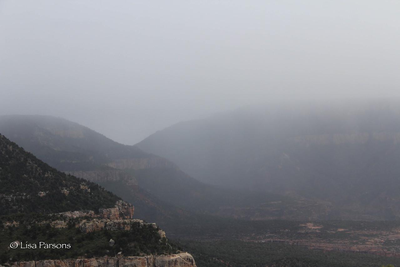 Rain Storm Over the Canyon