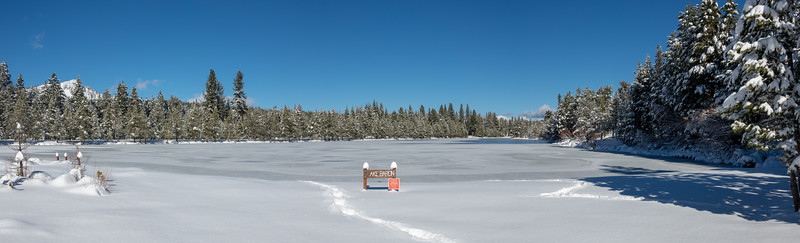 Frozen Lake Baron Panorama