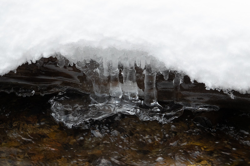 Ice Formations on River