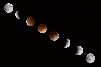 Blood moon lunar eclipse