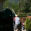 Dad playing with the umbrella