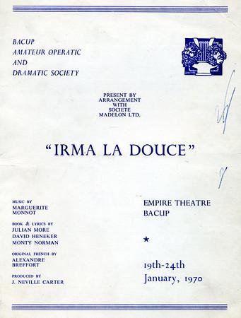 Bacup Amateur Operatic and Dramatic Irma La Douce January 1970