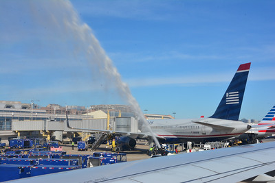 Water Cannon Salute by Reagan National Fire Department
