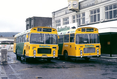 Badgerline 1306_1336 Weston Super Mare Bus Stn May 86
