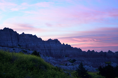 Sunset Glow over the Badlands