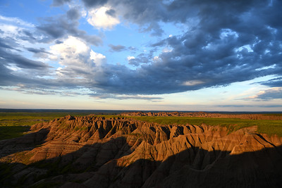Sunrise Light on the Badlands