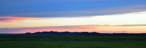 Dusk over the Badlands