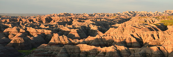 Sunrise Illuminates the Badlands