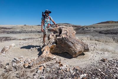Stef and Huge Petrified Stump