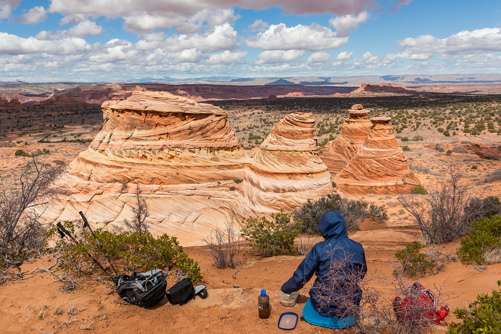 South Coyote Buttes - Cottonwood Teepees - Lunch w a view