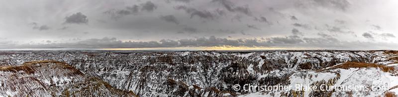 Bandlands Panorama  Early Morning