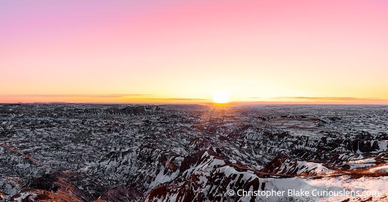 Badlands Wilderness Overlook Sunset