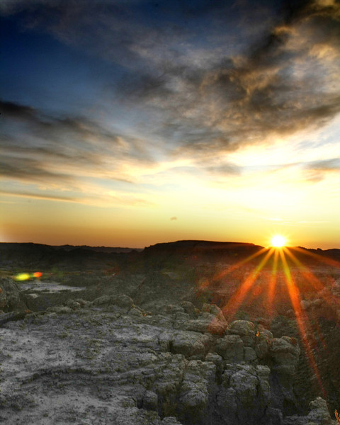 """Sunrise over Rocks"" by Clayton, 17  