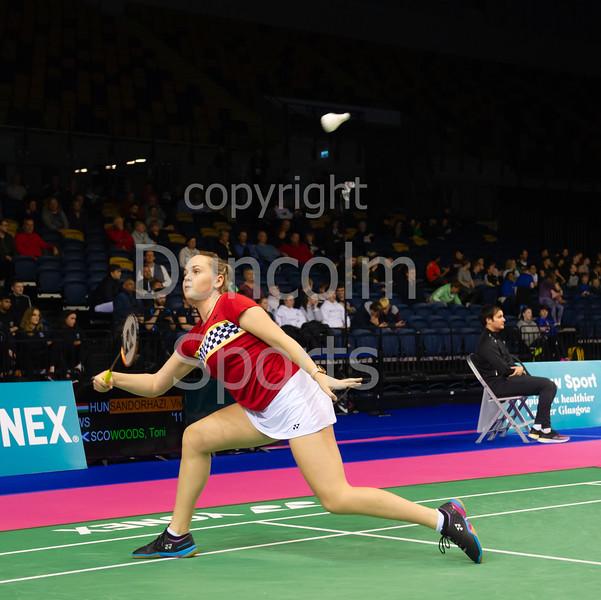 21 November 2019 at the Emirates Arena, Glasgow. Scottish International Open Badminton Championships 2019