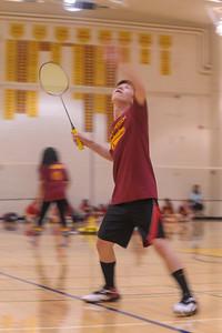 Menlo-Atherton High School Co-Ed Badminton vs. Burlingame High, March 10, 2015