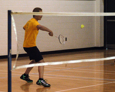 Nick, weak volley grip ... wrist should be flat with hand and shuttle contact would need to be higher
