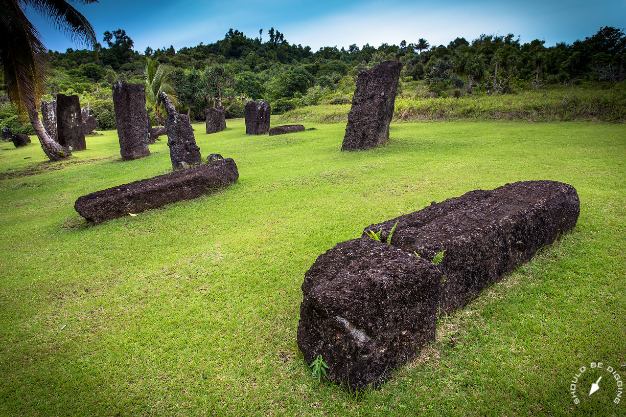 These basalt stones were deliberately shaped, likely part of a monumental tradition
