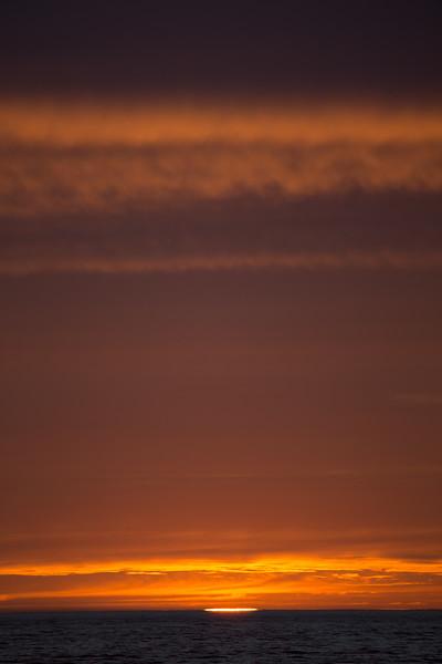 Sunset in Davis Strait