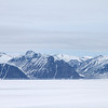 Eclipse Sound looking towards Bylot Island with a clear Arctic mirage on the shoreline