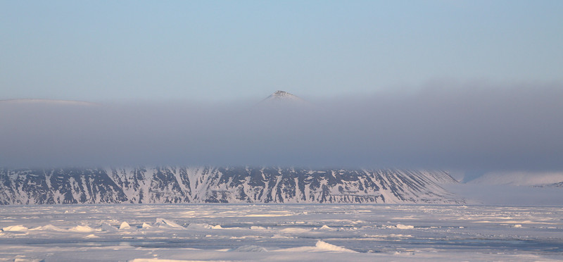 Mist over the mountains of Baffin Island